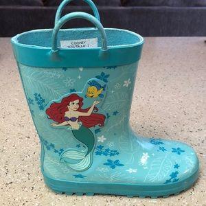 Little mermaid rain boots